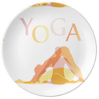 Louça De Jantar Poses da ioga