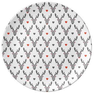 Louça De Jantar Rena! Placa da porcelana