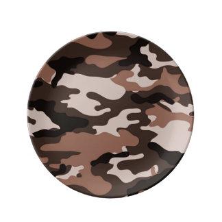 Louça De Jantar Teste padrão da camuflagem de Brown