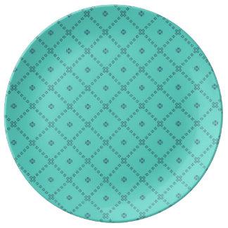 Louça De Jantar Verde gráfico do design do azulejo