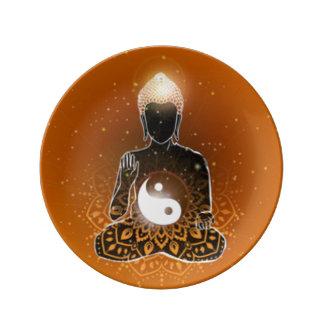 Louça Design de Ying Yang da meditação de Buddha