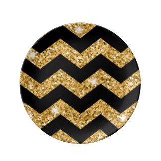 Louça Diamantes pretos do ouro de Chevron