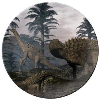 Louça Dinossauros do Ampelosaurus