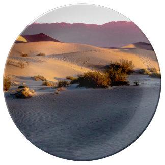 Louça Dunas de areia lisas o Vale da Morte do Mesquite
