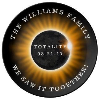 Louça Eclipse solar da totalidade da família