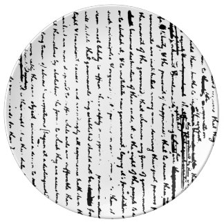 Louça Esboço bonito do roteiro desde 1776 por Jefferson