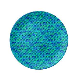 Louça Escalas do azul do Aqua de Falln
