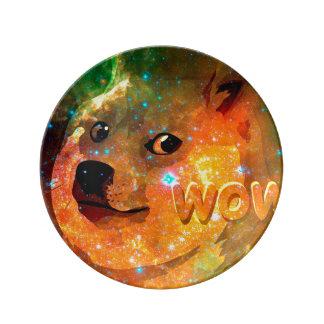 Louça espaço - doge - shibe - uau doge