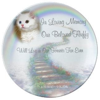 Louça Gato da escadaria e memorial celestiais do animal