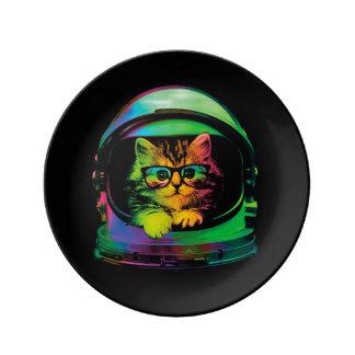 Louça Gato do hipster - astronauta do gato - espace o