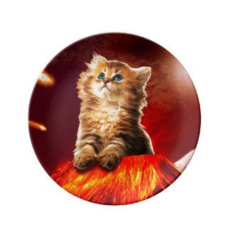 Louça gato do vulcão, gato vulcan,