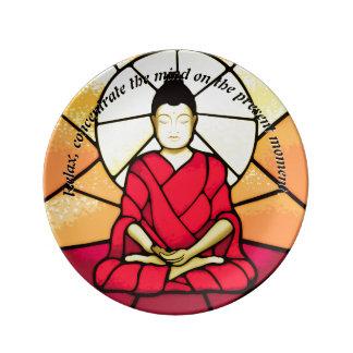 Louça Janela de vidro da mancha de Bali buddha