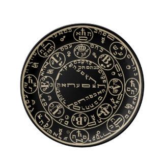 Louça Kabbalah - 8,5 dentro. Placa da porcelana -