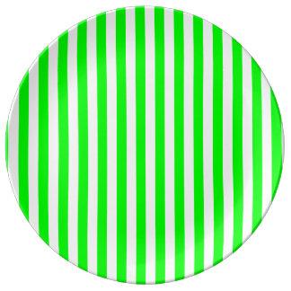 Louça Listras finas - brancas e verde elétrico