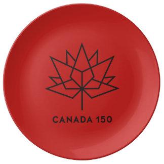 Louça Logotipo do oficial de Canadá 150 - vermelho e