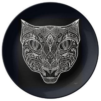Louça Mandala preto e branco do desenhista por oásis