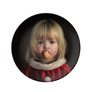 Louça Menina do Natal - criança do Natal - menina bonito