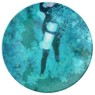 Louça Mergulhador e bolhas de mergulhador