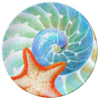 Louça Nautilus e estrela do mar