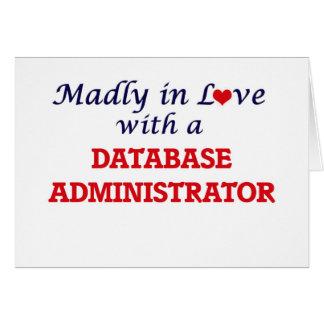 Louca no amor com um administrador de base de cartão comemorativo