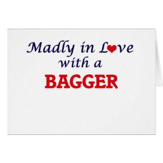 Louca no amor com um Bagger Cartão Comemorativo