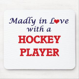 Louca no amor com um jogador de hóquei mouse pad