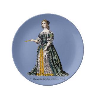 Louça O ~ TRAJA o ~ Henrietta, duquesa do ~ 1669 de