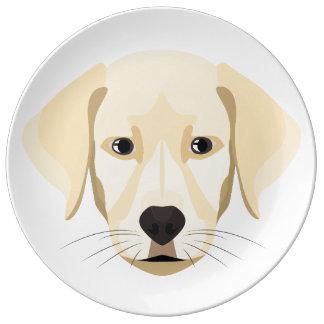 Louça Ouro Retriver do filhote de cachorro da ilustração