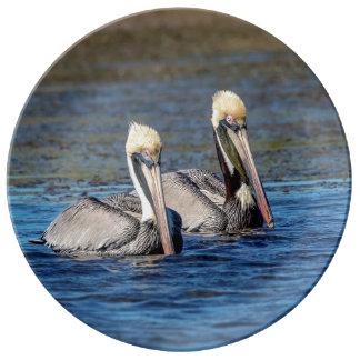 Louça Pares de pelicanos