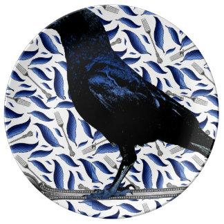 Louça Pássaro e placa decorativa da forquilha