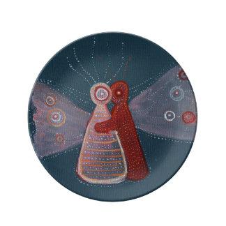 Louça Placa decorativa da porcelana da arte da pintura
