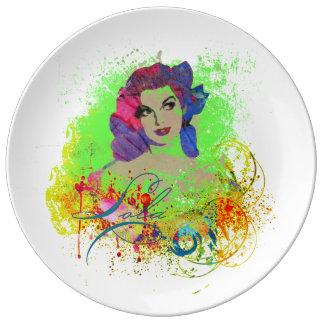 Louça Placa decorativa da porcelana de Lola