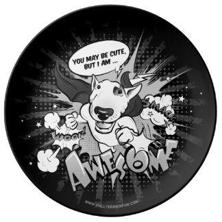 Louça Placa do deco dos desenhos animados do super-herói
