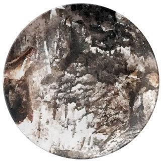 Louça Placa do latido de vidoeiro