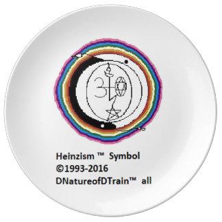 Louça Placa do símbolo de Heinzism