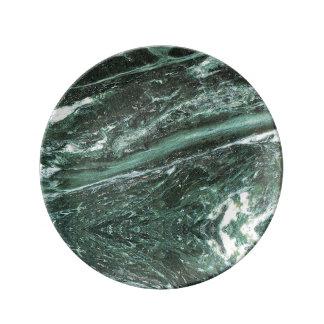 Louça Placa esmeralda da porcelana da textura de pedra