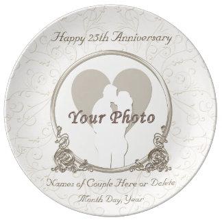Louça Placas personalizadas do aniversário ALGUNS ANO e