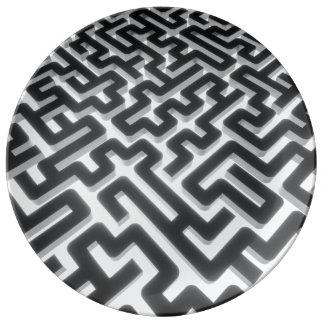 Louça Preto de prata do labirinto