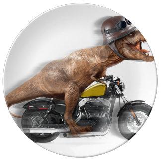 Louça Rex dos motocicleta-tiranossauros-t do rex de T -