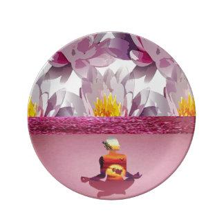 Louça Senhora da meditação das flores de Lotus
