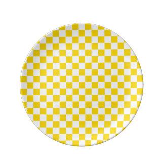 Louça Tabuleiro de damas amarelo