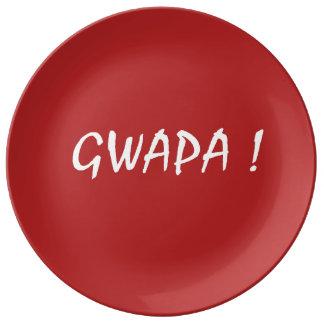 Louça Tagalog do filipino de Cebuano do texto do gwapa