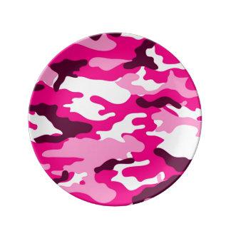 Louça Teste padrão cor-de-rosa da camuflagem