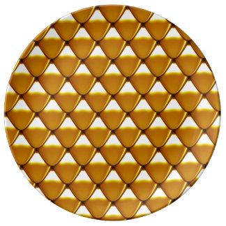 Louça Teste padrão elegante da escala do ouro