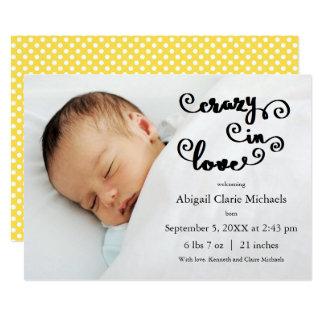Louco no amarelo do amor - anúncio do nascimento