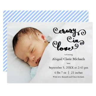 Louco no azul do amor - anúncio do nascimento
