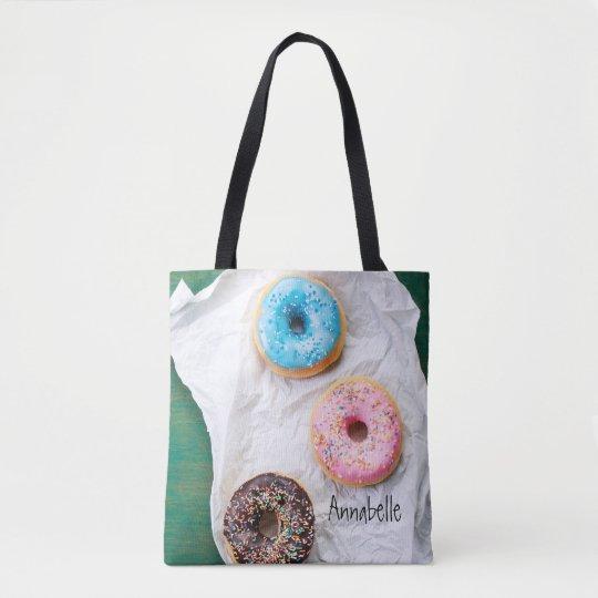 Louco para a sacola personalizada | das rosquinhas bolsas tote