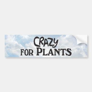 Louco para plantas - autocolante no vidro traseiro adesivo para carro