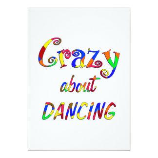 Louco sobre a dança convite 12.7 x 17.78cm