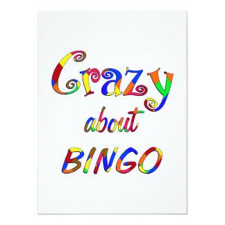 Louco sobre o Bingo Convite Personalizado